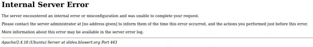 PHP-FPM auf Ubuntu einrichten: Internal Server Error